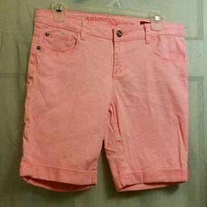 Bright Pink Arizona Jeans Bermuda Shorts Girls